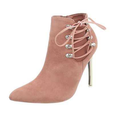 High Heel Stiefeletten für Damen in Rosa