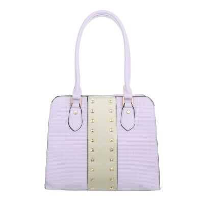 Mittelgroße Damen Tasche Lila Gold