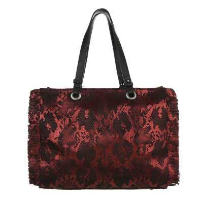 Große Damen Tasche Rot Multi