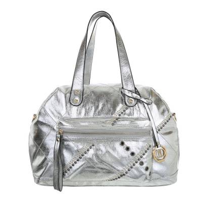 Große Damen Tasche Silber