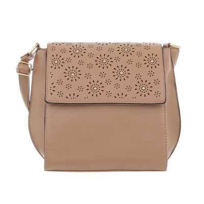 Kleine Damen Tasche Braun Rosa