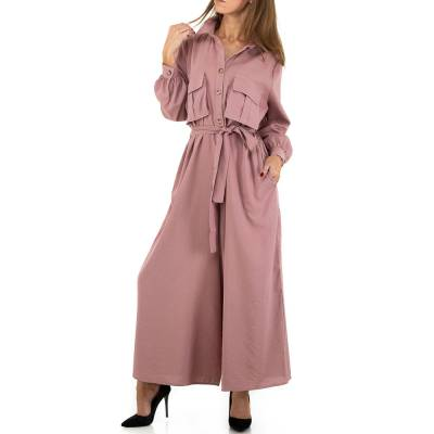 Langer Jumpsuit für Damen in Rosa