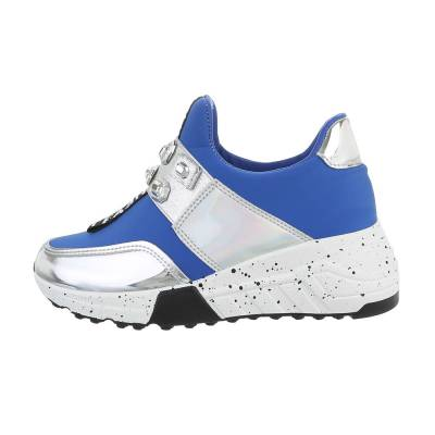 Sneakers low für Damen in Blau und Silber