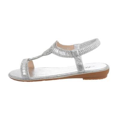 Riemchensandalen für Damen in Silber