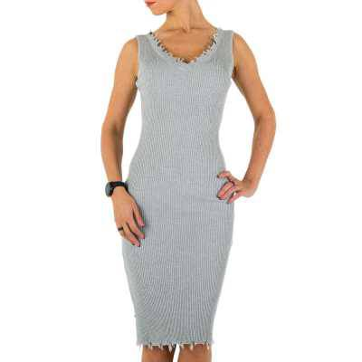 Stretchkleid für Damen in Grau