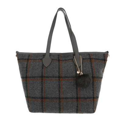 übergroße Damen Tasche Grau