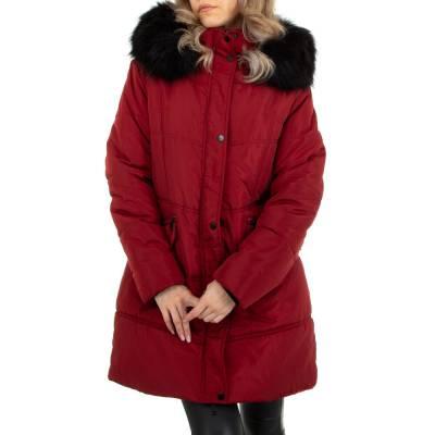 Winterjacke für Damen in Weinrot