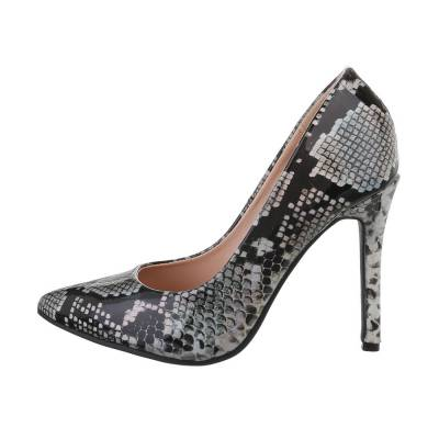 High Heel Pumps für Damen in Grau und Silber