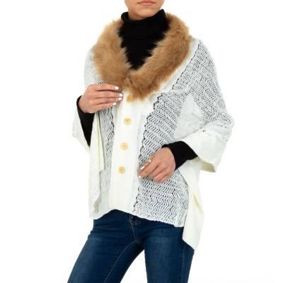 Poncho/Cape für Damen in Weiß
