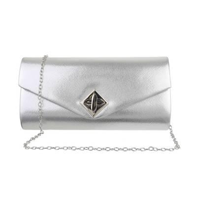 Abendtasche für Damen in Silber