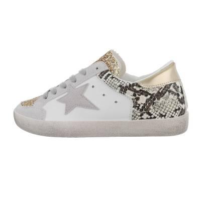 Sneakers low für Damen in Gold und Grau