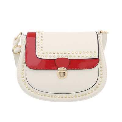 Kleine Damen Tasche Beige Rot