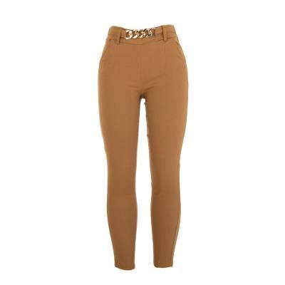 Stoffhose für Damen in Camel