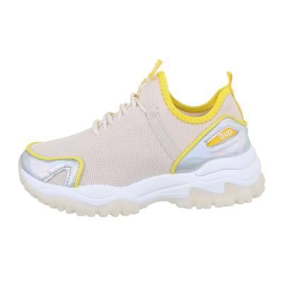 Sneakers low für Damen in Beige und Silber