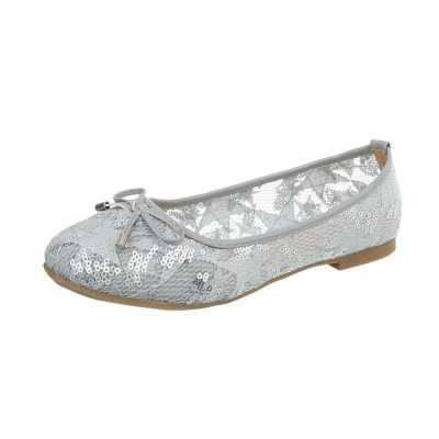 Klassische Ballerinas für Damen in Grau