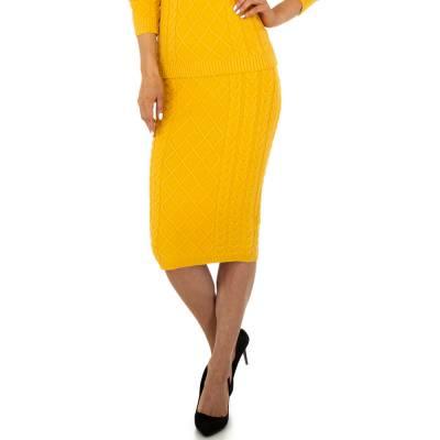 Stretchrock für Damen in Gelb