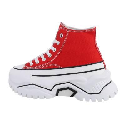 Sneakers High für Damen in Rot und Weiß