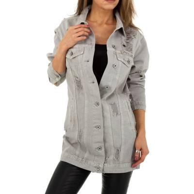 Jeansjacke für Damen in Grau