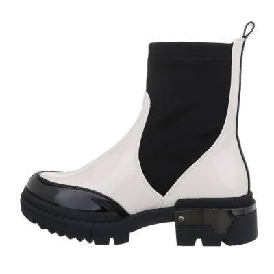 Chelsea Boots für Damen in Schwarz und Weiß
