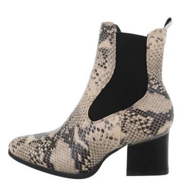 Chelsea Boots für Damen in Beige und Grau