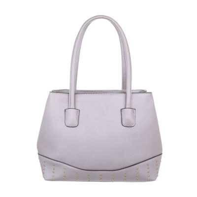 Mittelgroße Damen Tasche Lila Grau