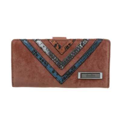 Portemonnaie Damen Geldbörse Braun