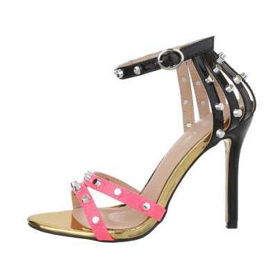 High Heel Sandaletten für Damen in Rosa und Schwarz