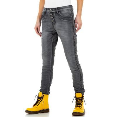 Boyfriend Jeans für Damen in Grau