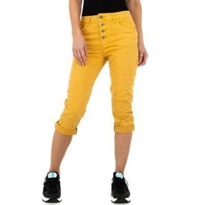 Capri-Jeans für Damen in Gelb