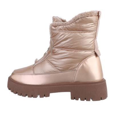 Snowboots für Damen in Gold