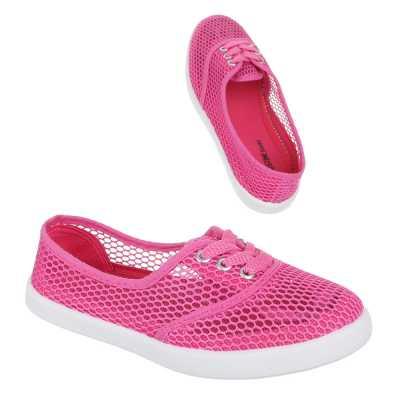 Luftig Leichte Damen Halbschuhe Pink