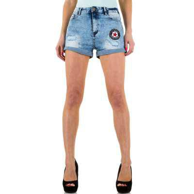 High Waist Shorts für Damen in Blau