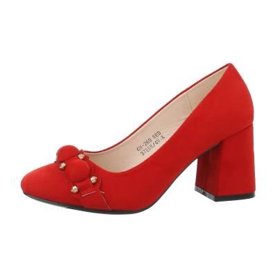Klassische Pumps für Damen in Rot