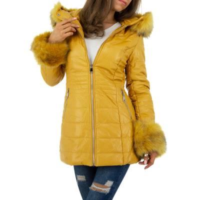 Winterjacke für Damen in Gelb