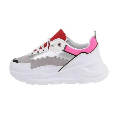 Sneakers low für Damen in Weiß und Rot