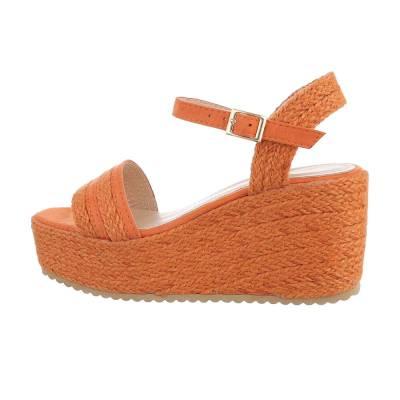Plateausandaletten für Damen in Orange