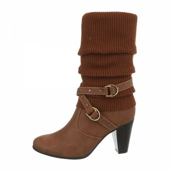 High Heel Stiefel für Damen in Camel