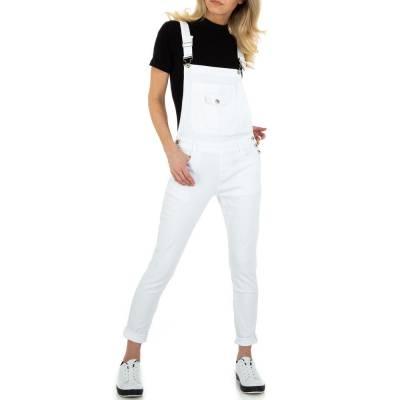 Latzhose für Damen in Weiß