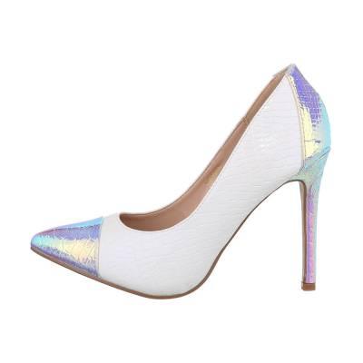 High Heel Pumps für Damen in Weiß und Silber