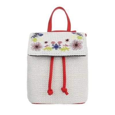 Sehr Kleine Damen Tasche Rot Weiß