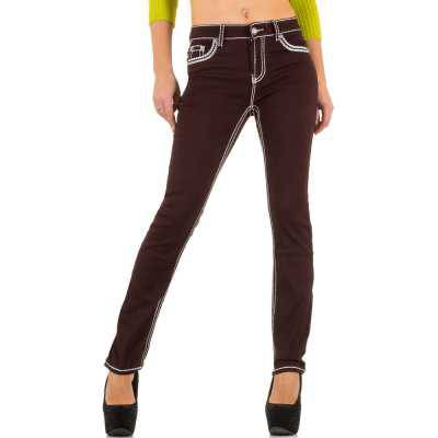 Straight Leg Jeans für Damen in Braun