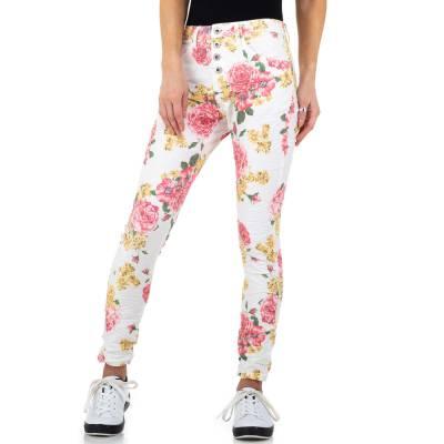 Boyfriend Jeans für Damen in Weiß