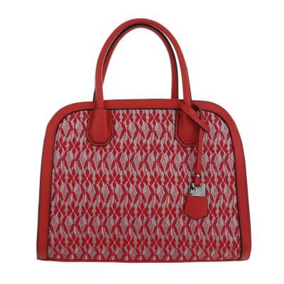 Mittelgroße Damen Tasche Rot Silber