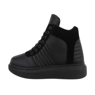 Sneakers high für Damen in Schwarz