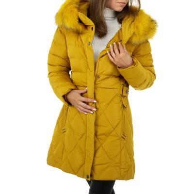 Wintermantel für Damen in Gelb