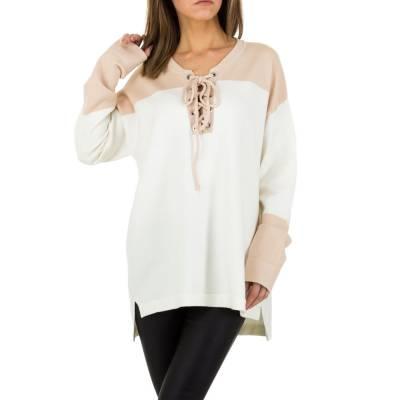 Longpullover/Tunika für Damen in Weiß