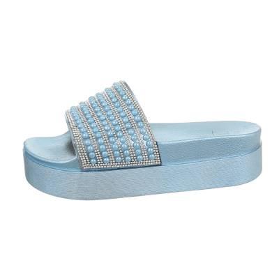 Plateausandaletten für Damen in Blau