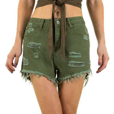 High Waist Shorts für Damen in Grün