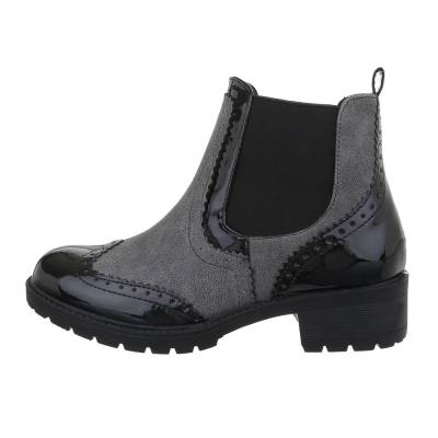 Chelsea Boots für Damen in Grau und Schwarz