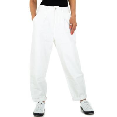 Boyfriend-Hose für Damen in Weiß